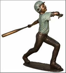 Bronze Baseball Batter sculpture #4