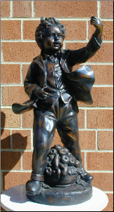 Bronze Statue Boy with Hose