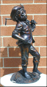 Bronze Statue Boy with Sickle