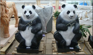 Black Marble Pandas w/ white paint Mrkngs