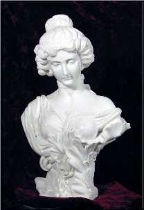 French Lady Marble Bust