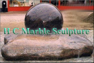 Marble Sphere Fountain on Free Form Rock