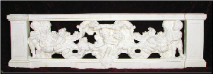 Cupid w/ Rose Vine Balustrade, Large Section