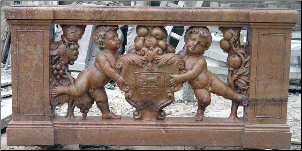 Balustrade Cupids w/Shield
