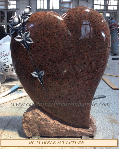 Vanga Red Heart Headstone