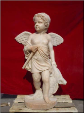 Child Angel Marble Statue