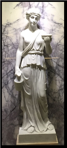 Marble Statue of Grecian Woman w/ base