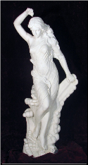 Life Size Marble Statue of Eve in White