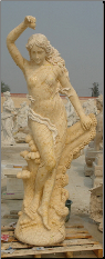 Life Size Marble Statue Eve, Egypt Yellow