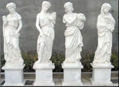 Four Seasons Marble Statues on Base B