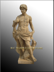 Roman Soldier Antique Marble Statue