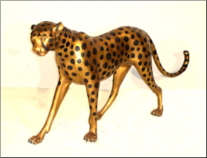 Bronze Cast Male Cheetah