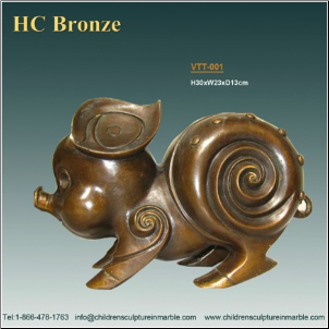 Bronze Pig Decorative Sculpture