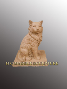 Custom Marble Cat Memorial Sculpture