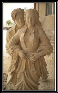 Custom Couple Marble Statue
