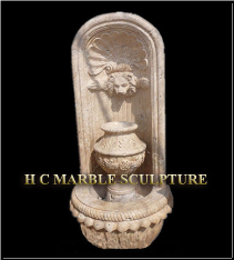 Lion Marble Fountain With Vase