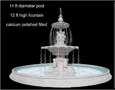 2 Tier Marble Fountain w/ Pool