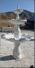 3 Tier Waved Bowls Marble Fountain