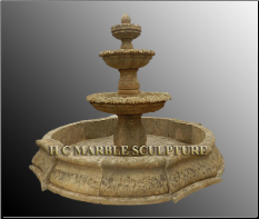 Antique 3 Tier Stone Fountain