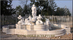 Grand Estate Marble Mermen Fountain