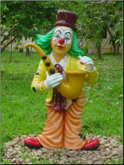 Bronze Clown with Saxophone