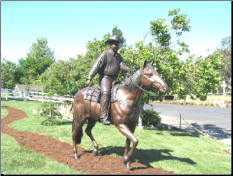 Bronze Custom Cowboy on Horse