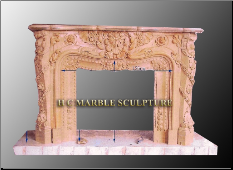 Custom Hand Carved Marble Mantle