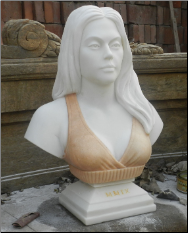 Custom Marble Bust of Melissa