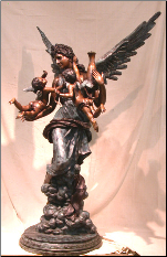 Angel Fountain holding cupids