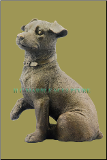 Bronze Small Dog No Base Table Top Sculpture