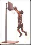 Boy Playing Basketball Bronze Statue