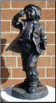 Bronze Statue Boy with Pipe