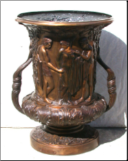 Bronze Grape Urn