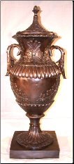 Bronze Urn with Top