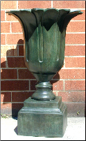 Tall Bronze Flower Vase