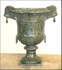 Bronze Lion Head Ring Urn