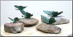 Bronze Butterflies on Rock ( Paperweights )