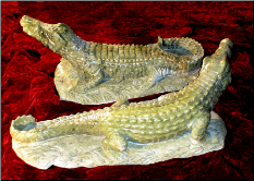 Marble Alligator Sculpture, Right or Left