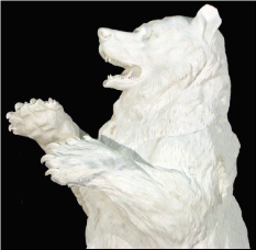 Tall Marble Bear w/Cub White