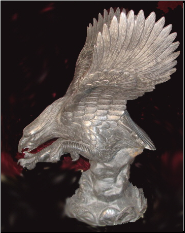 Marble Eagle on Pedestal