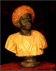 African Marble Bust