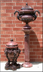 Red Marble Urn Collection