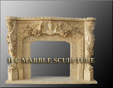 Marble Queen Mantle Fireplace