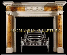 Marble Mantle Centered Face