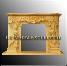 Cherub Marble Mantle - Custom