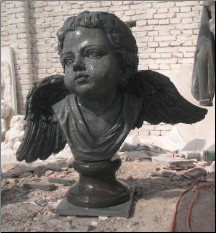 Baby Angel Marble Bust