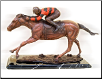 Bronze Statue Jockey on Horse