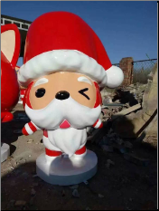 Fun Sants Claus Fiberglass Statue