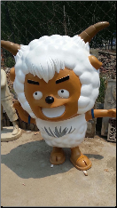 Fun Sheep Fiberglass Statue