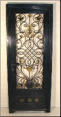 Madrid Door w/ Wrought Iron Scroll Center